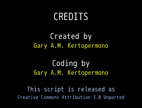 Hacked Together Credits Script